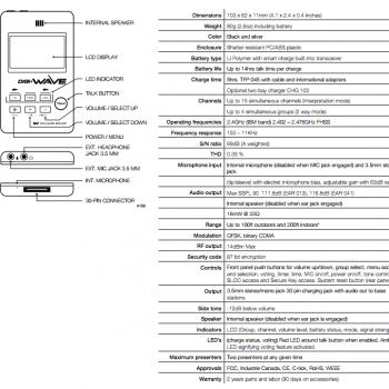 Portable Language Interpretation System DWS INT2