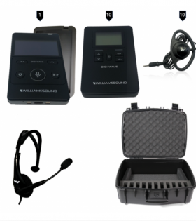 DWS INT 2 400 ALK 10 Person Digital Interpretation System with carry case