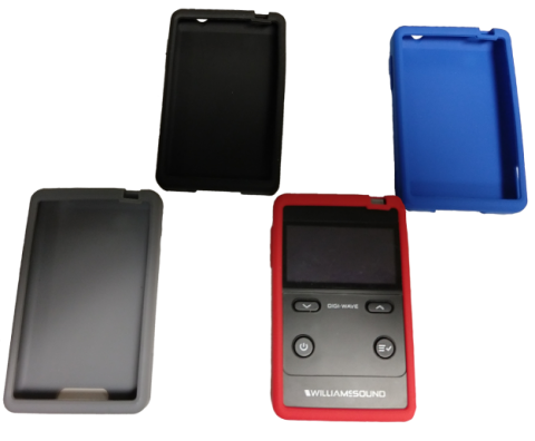 DW CSS silicone skins for DLR 400 receivers in black, gray, red and blue