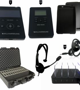 DWS INT 3 400 ALK Digital Interpretation System For 20 Listeners with case