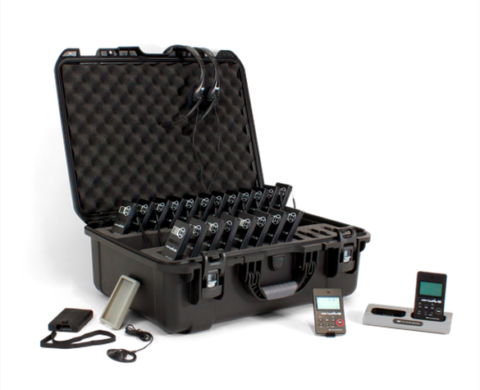 Portable Simultaneous Interpretation System for 20 Listeners and 2 Translated Languages