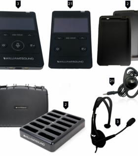 DWS INT 4 400 RCH Rechargeable Digital Interpretation System for 3 Languages and 21 Listeners