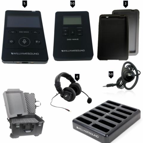 DWS INT 5 400 alk digital translation system with case