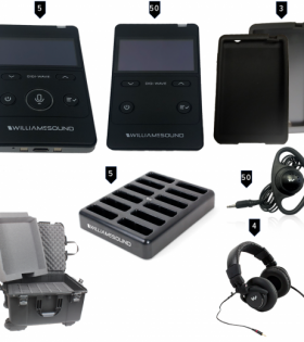 DWS INT 5 400 rch rechargeable digital translation system with case