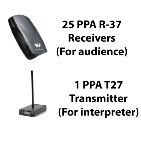 FM Pro System 25 with PPA T27 transmitter and PPA R37 receivers