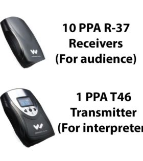 Starter FM Translation System for 10 Listeners with PPA T46 transmitter an PPA R37 receivers
