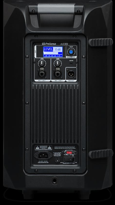 Presonus AIR10 loudspeaker back view