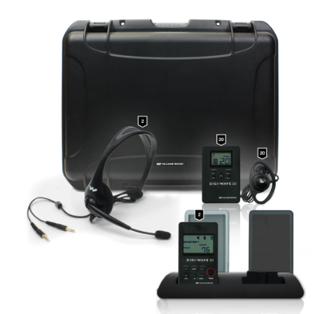 DWS INT 3 300 20 person Digital Translation System with carry case