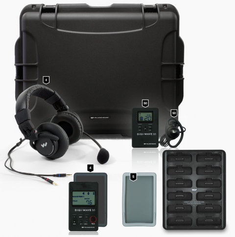 DWS INT 5 300 Digital Interpretation System with 12 bay charger and carry case