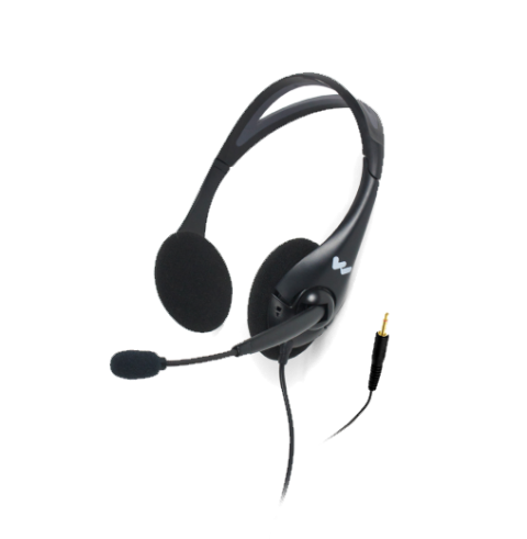 MIC 145 Dual headset microphone for DLT 400 transceiver with TRRS 3.5mm plug