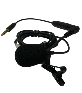 MIC 154 Directional, cardioid lapel clip microphone for DLT 400 transceiver.