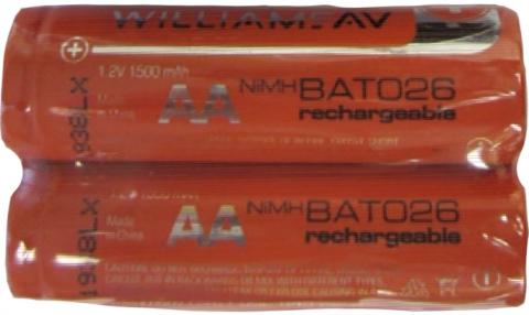 bat 026 AA Nimh rechargeable batteries 2 pack