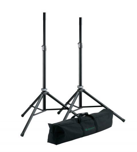 Koenig-Meyer speaker stands and carry case