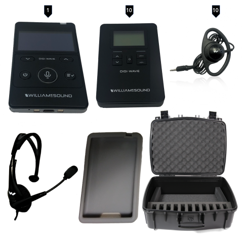 DWS TGS 10 400 ALK Wireless Tour Guide system with case