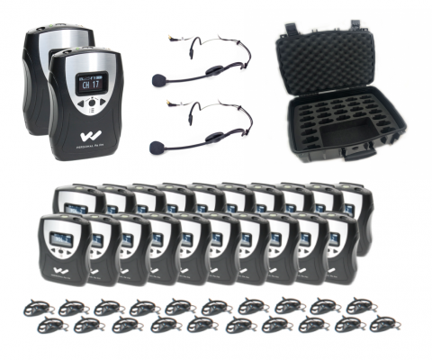 FM Translation System 20 person complete system view with case
