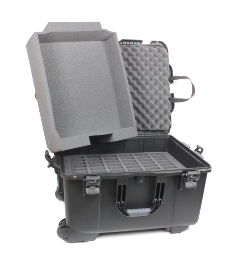 ccs_054 case with accessory tray and 60 slot foam insert