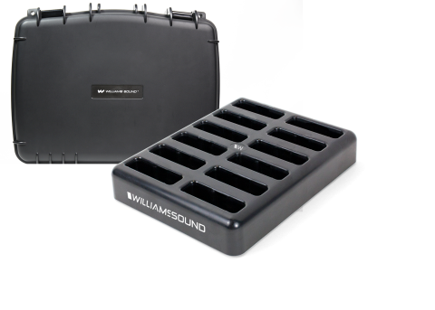 CHG 412 PRO with 12 bay charger and case